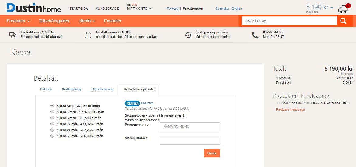 8f9d82d38e4 Klarna   Swedroid forum - Nordens största Android-community