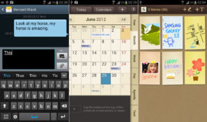 Samsung Galaxy S III s-cal, snote and messenger app