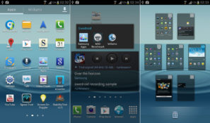 Samsung Galaxy S III home screen