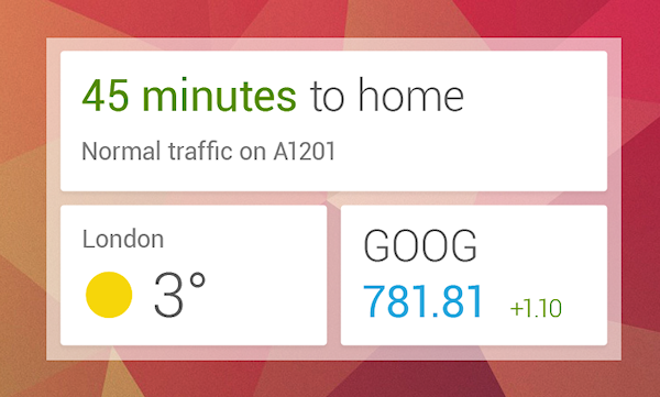 Ny version av Google Now med widget och fler kort går nu att ladda hem till Jelly Bean-enheter