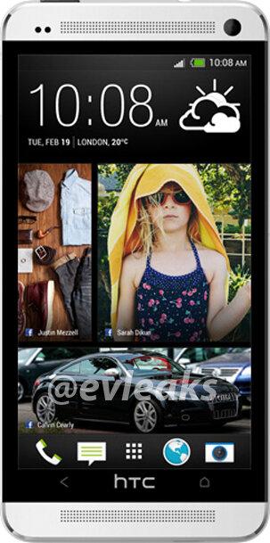 Påstådd pressbild på HTCs kommande toppmodell One (M7)