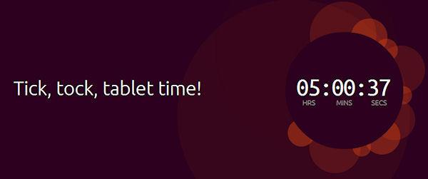 Varför räknar Ubuntu ner till tidpunkten för HTCs presentation i eftermiddag?
