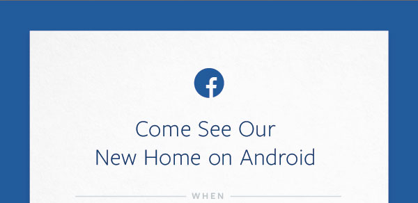 "Facebook presenterar ""sitt nya Androidhem"" 4:e april"