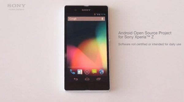 Sony skapar projekt med original-Android för Xperia Z