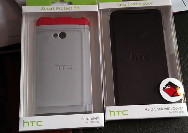 "HTC ""Hard Shell"" och ""Hard Shell with Cover"" för HTC One"