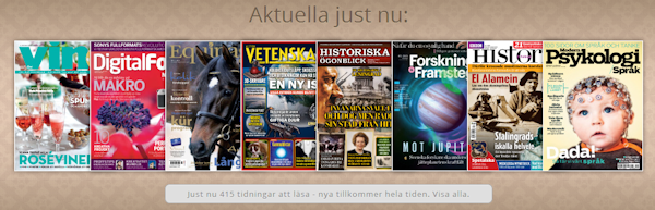 Svenska tidningsappen Readly finns nu för Android