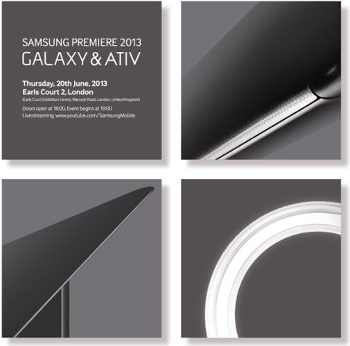Samsung presenterar ny Galaxy-modell i London 20:e juni