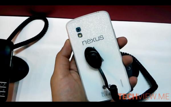 Vit LG Nexus 4 dyker upp på konferens i Dubai