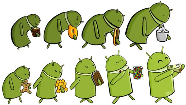 Androids utveckling från 2009 fram till idag i bilder