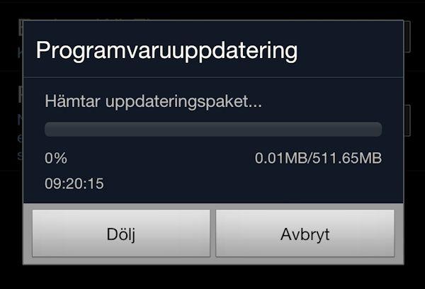 Samsung Galaxy Note tycks nu ha uppdaterats till Jelly Bean i Sverige