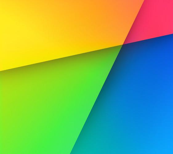 Ladda hem de två nya bakgrundsbilderna i Android 4.3