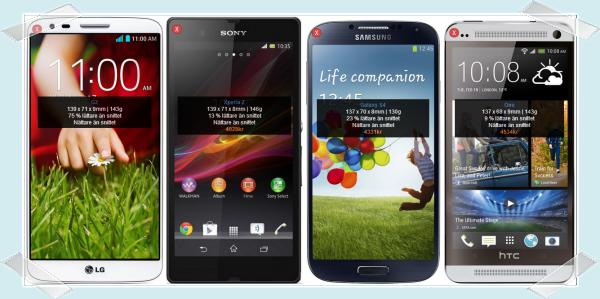 LG G2 jämförd med Xperia Z, Galaxy S4 och HTC One
