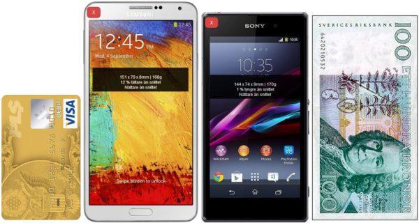 Tips: Samsung Galaxy Note 3 och Sony Xperia Z1 finns nu på Androidenheter.se