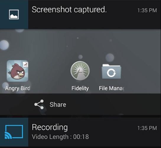 Skärminspelning på väg till CyanogenMod