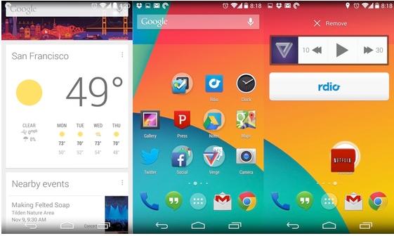 Androids nya hemskärmsapp endast avsedd för Nexus 5?