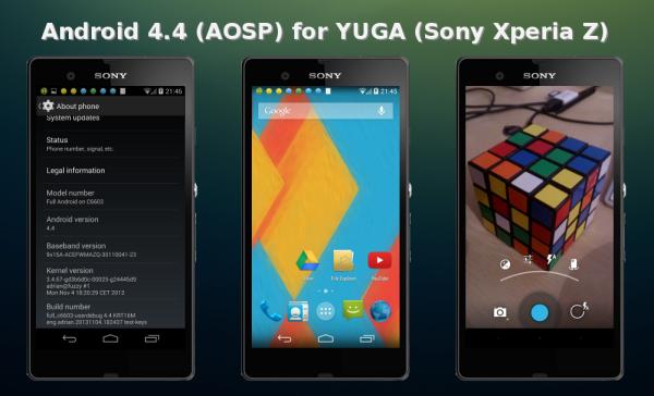 Sony Xperia Z får Android 4.4-ROM, sägs vara stabil