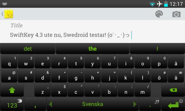 SwiftKey 4.3 släpps i skarp version