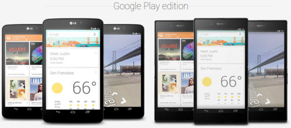 Google presenterar Play Edition Sony Z Ultra och LG G Pad 8.3