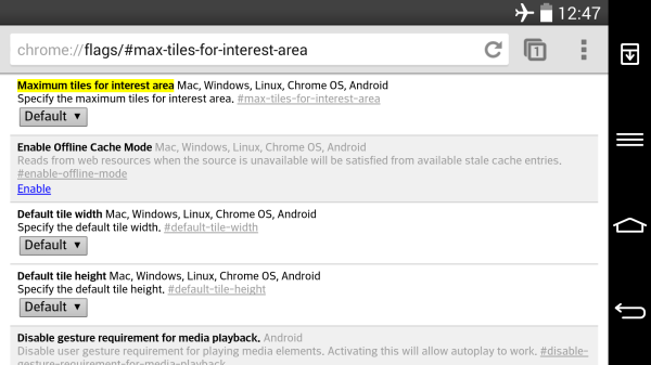 Dold inställning sägs öka prestandan i Chrome för Android