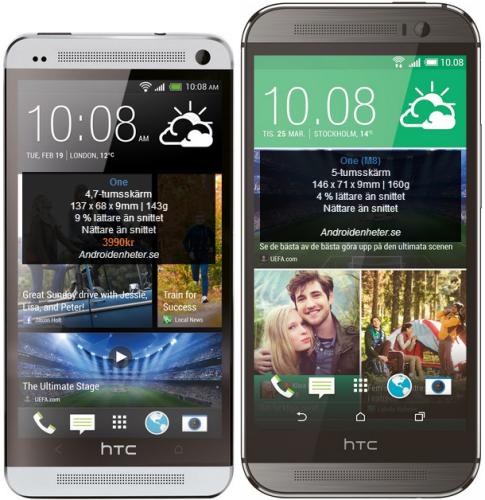 Så här stor är HTC One (M8) jämfört med andra toppmodeller