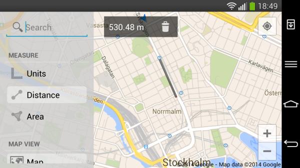 Maps Measure gör det enkelt att mäta avstånd i Google Maps