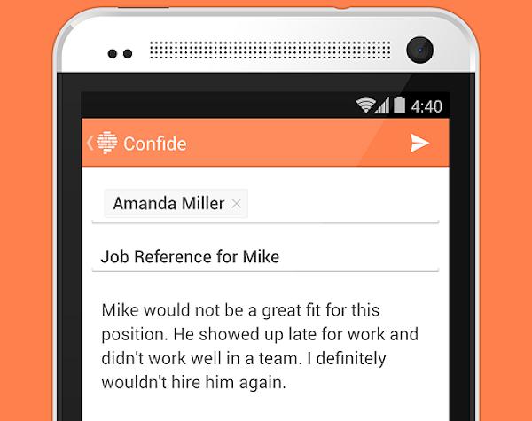 Confide skickar självförstörande och krypterade textmeddelanden