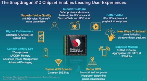 Qualcomm tillkännager 64-bitarschippen Snapdragon 810 och 808