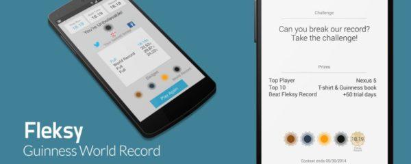 Fleksy-användare sätter nytt Guinnessrekord
