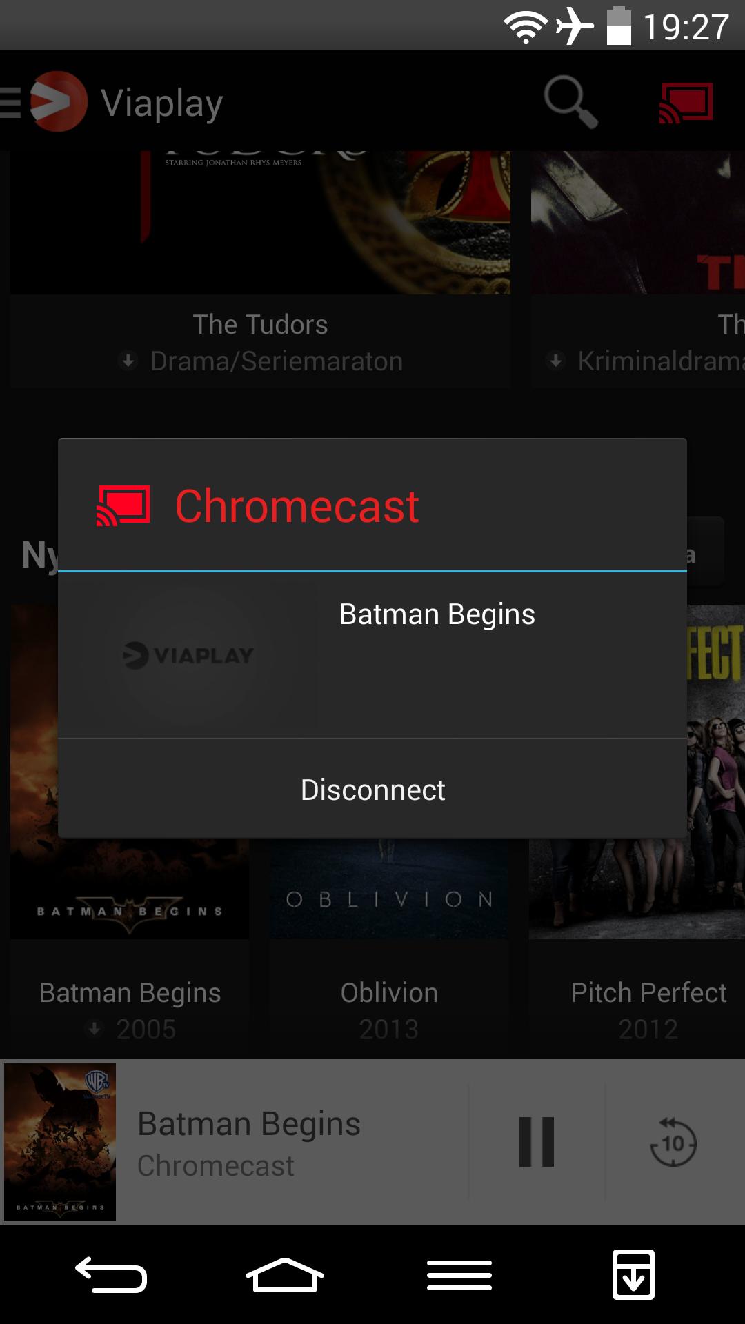 viaplay chromecast