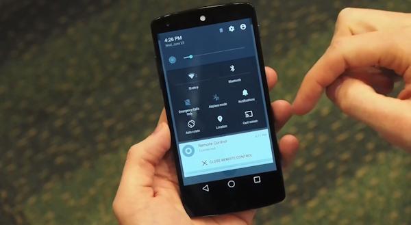 Video som visar förhandsversionen av Android L