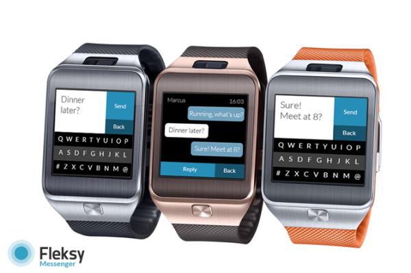 Fleksy släpper sitt tangentbord för Samsung Gear 2