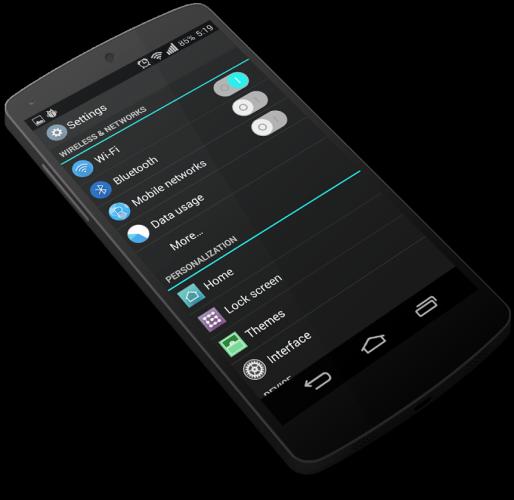 Test av temamotorn i CyanogenMod 11