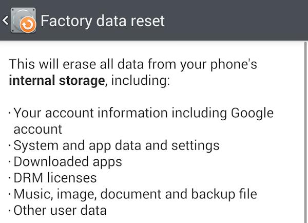 Fabriksåterställning raderar inte alltid din privata data