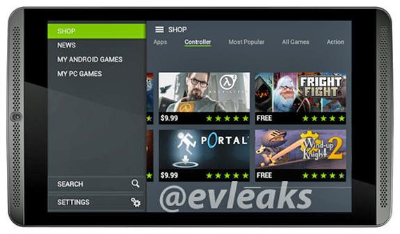 Det här sägs vara spelplattan Nvidia Shield Tablet