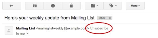 Nu blir det lättare att avprenumera på nyhetsbrev i Gmail