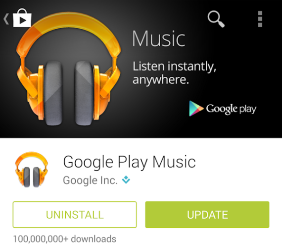 Google Play Music uppdateras med ny widget och nya funktioner