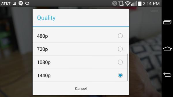 LG G3-ägare ska nu kunna titta på videor i 1440p med YouTube-appen