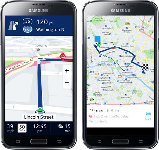Nokias kartprogram HERE kommer till Galaxy-smartphones i höst