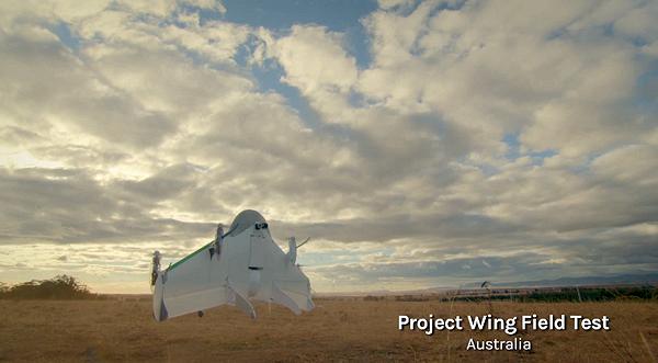 Google presenterar Project Wing, ett leveranssystem med drönare