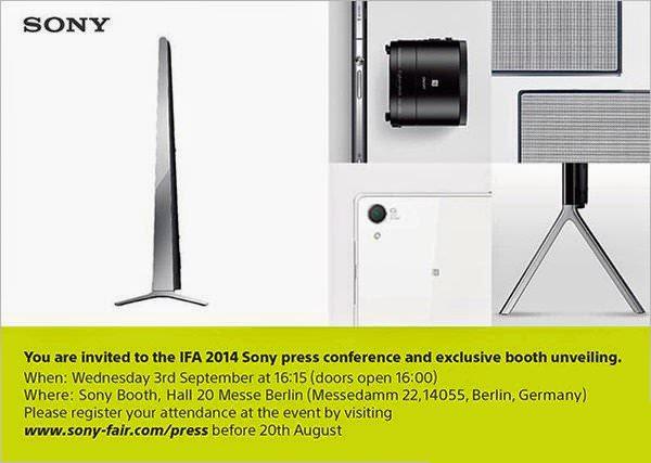 Sonys inbjudan till IFA visar ny smartphone, kameratillbehör