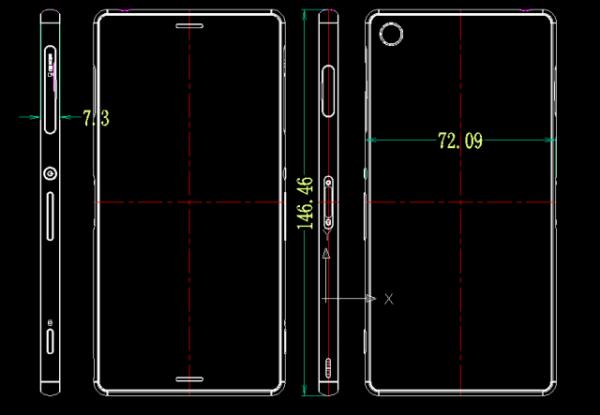 Sony Xperia Z3 och Z3 Compact sägs vara lika stora som sina föregångare
