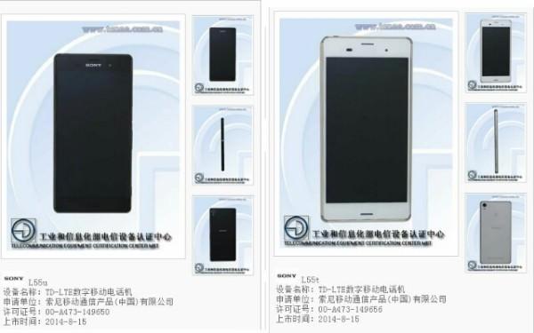 Bilder på kinesiska modellen av Sony Xperia Z3