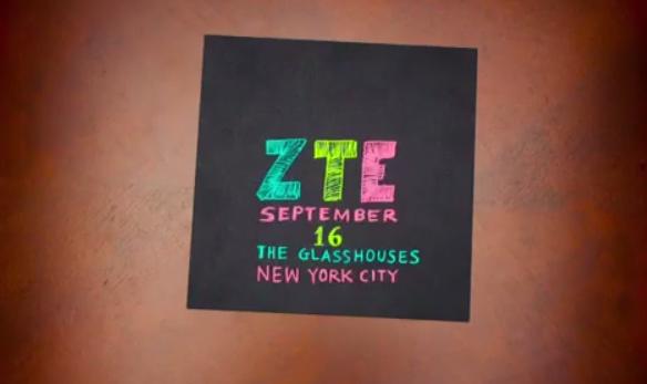 ZTE visar upp nyheter i New York 16:e september