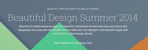 Google belyser appar med vacker design