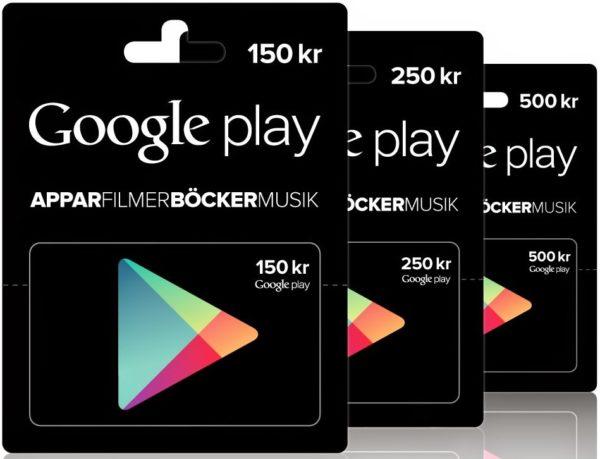 Google Sverige: Presentkort för Play Store kommer snart