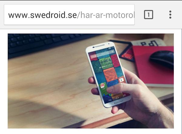 """Skarpa Chrome för Android får """"Material Design"""""""