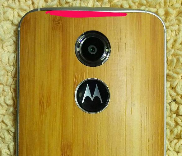 Bilder på Motorolas nya toppmodell med bambubakstycke