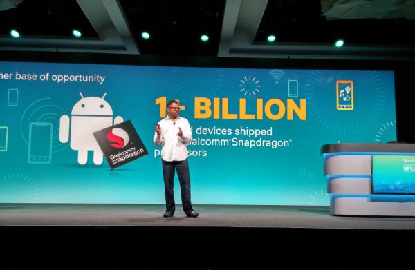 En miljard enheter har levererats med Snapdragon-processorer