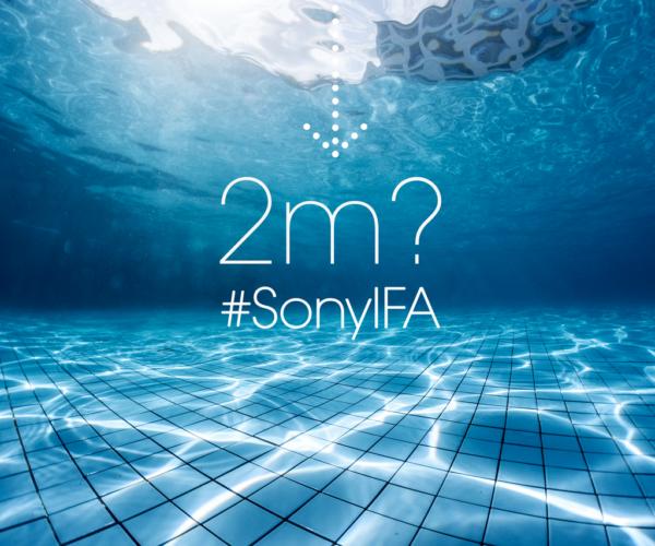 Sony anspelar på ovanligt vattentäta mobiler under IFA