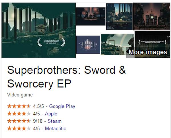 Google visar nu faktarutor om spel